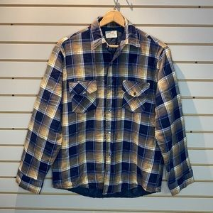 Vintage Quilted Lined Flannel Jacket SZ M